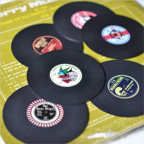 レトロなレコードコースター