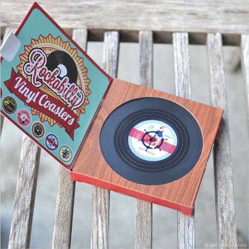 レコードコースターのパッケージデザイン
