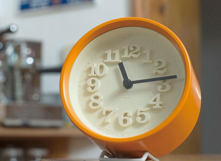 Lemnos 掛け時計 スチール