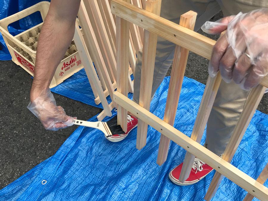 DIY 木目 塗装