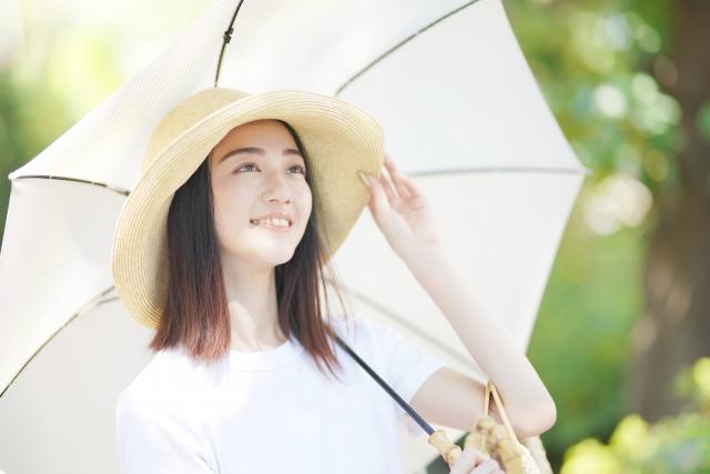 紫外線06 日傘と帽子